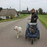 Socialisatie: op weg naar de zorgboerderij en mama Skylar gaat ook mee voor de steun